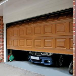 car inside garage