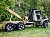 Wood pulling truck