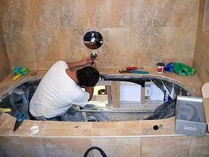 Plumbing bathtub