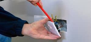 Fixing electrical outlet